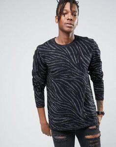 ASOS Sweater with Zebra Design and Metallic Yarn