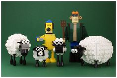 Shaun the Sheep characters in LEGO Lego Duplo, Lego Sets, Legos, Lego Humor, Timmy Time, Lego Craft, Shaun The Sheep, Cool Lego Creations, Lego Design