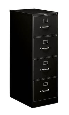 """Basyx 4-Drawer Legal Vertical File by Basyx. $299.99. Ideal for home office or small business applications, the Basyx 510 series delivers serious value and secure storage Nylon roller drawer suspension 25"""" deep metal cabinet Baked Enamel paint finish in Black, Putty or Light Gray High file drawer sides for hanging files (no need for insert) Wire follower keeps files from sliding Aluminum drawer pull, label holder, and thumb latch Standard with lock basyx by Hon 5 Y..."""