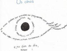 Poesía visual sobre los ojos en portugués