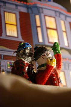 Mummer's the Word figurines celebrate our mummering tradition. And hey, that house in the background looks nice too! Here's their site: www.mummerstheword.com/ (Geoff Meeker photo)
