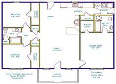 Open Floor Plans with Basements | floor plans and details 3 bedroom 2 bath 1731 sq ft full basement plan ...
