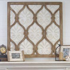 Square Wood and Metal Wall Panel