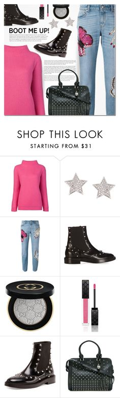 """Kick it: Chelsea Boots"" by anna-anica ❤ liked on Polyvore featuring Diane Von Furstenberg, Alinka, Alexander McQueen, Balenciaga and Gucci"
