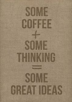 This is definitely Jeremy and I when we have coffee :)