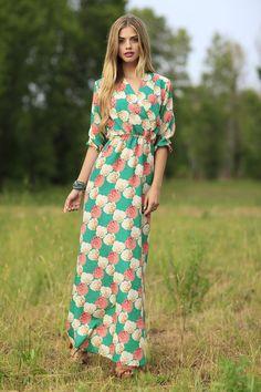 Shabby Apple Bridget Maxi Dress
