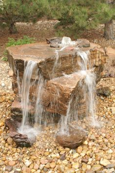 15 Most Clever Rock Fountain Ideas for Your Backyard Having a fountain in your backyard is exhilarating, it also enhances the value of your property. See our clever rock fountain ideas and get ready to be amazed! Backyard Water Fountains, Backyard Water Feature, Ponds Backyard, Garden Fountains, Backyard Landscaping, Landscaping Ideas, Waterfall Landscaping, Outdoor Fountains, Backyard Ideas