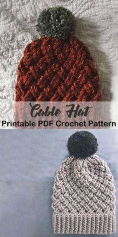 Make your own winter hat. beanie crochet patterns – winter hat crochet patterns … – The Best Ideas Crochet Gratis, Crochet Yarn, Free Crochet, Crotchet, Crochet Scarfs, Crochet Adult Hat, Crochet Beanie Pattern, Knitted Hat Patterns, Booties Crochet