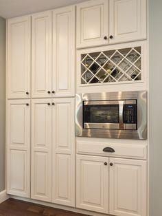 Wine Rack Above Microwave Or Fridge In 2019 Kitchen