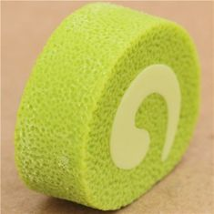 green cake roll piece eraser from Japan by Iwako