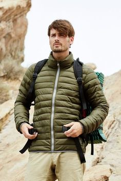 Active By Stedman Men's Padded Jacket. Wind resistant and water repelent this is a lightweight mens padded jacket with excellent heat insulation. Stand-up collar with zipper and inside hood with draw cord. Mens Padded Jacket, Man Pad, Outdoor Wear, Black Opal, Military Green, Dark Blue, Contrast, Winter Jackets, Menswear
