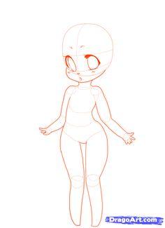 how to draw a chibi girl neko step 12