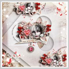 """kit """"Song of Love"""" by Sekada designs https://www.digitalscrapbookingstudio.com/personal-use/kits/song-of-love-full-kit/ Template by Xuxxper Wordart of the kit """"What is Love"""" by Sekada Photo by Rebeca Saray - deviantart"""