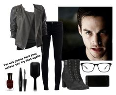 """The Vampire Diaries - Imagine Kai Parker"" by juli1dfan ❤ liked on Polyvore featuring Timberland, Superfine, Wet Seal, Promod, Joseph Marc, MAKE UP FOR EVER, GHD and Deborah Lippmann"