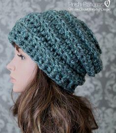 a012396a82266 Crochet PATTERN - Crochet Pattern Hat - Crochet Slouchy Hat Pattern -  Beehive Hat Pattern - Baby