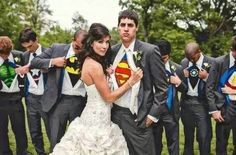 /Superhero Marvel Avengers Wedding Photo/ I think if I could have my fandoms sneaked into my wedding... I would be the happiest girl on earth
