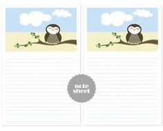Get this wallpaper and the note sheet with the adorable owl illustration