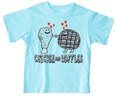 I've never had the chicken and waffle combo and I doubt my kids ever will. But this shirt just screams Lincoln.