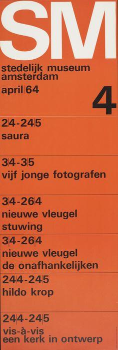 Exhibition Program Poster 4, Stedelijk Museum, Amsterdam., 1964