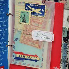 Vellum envelope to document Christmas cards