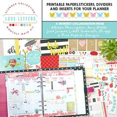 Planner Collection Monthly Love Letters at The Lilypad