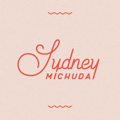 @sydneymichuda | New personal logo / brand! It's been years since I've touched my personal logo and thanks to an upcoming opportunity which called for new business cards, I gave my look a much needed refresh. Custom lettering by yours truly.