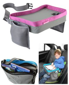 Amazon.com : Kids Travel Play Tray Bag- Childrens Car Seat Buggy Pushchair Lap Tray (Pink) : Child Safety Car Seat Accessories : Baby