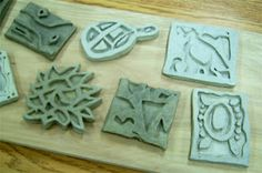 Clay Trivet/Tile Lesson | Art Lesson Plans clay slabs