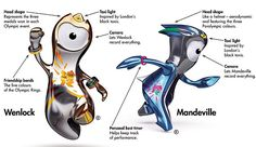 Wenlock and Mandeville, the official mascots for the 2012 Olympics and Paralympics held in London, United Kingdom.