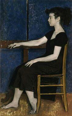 Portrait of Fani by Yiannis Moralis. Greek Paintings, National Gallery, Art Through The Ages, Greek Art, Art Plastique, Figure Painting, Artist Art, Figurative Art, Les Oeuvres