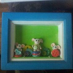 Porcelana cuadro ratones