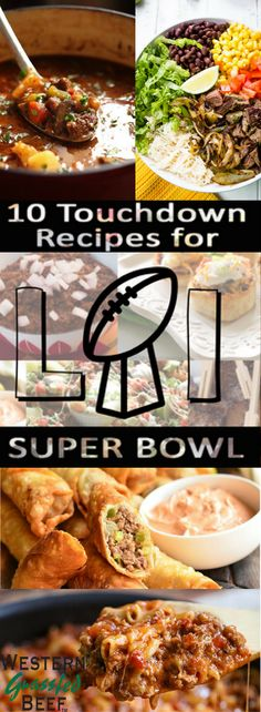 10 Touchdown Grass Fed Beef Recipes for Super Bowl Sunday Cooking Tips, Cooking Recipes, Super Bowl Sunday, Grass Fed Beef, Beef Recipes, Chicken, Food, Meat Recipes, Chef Recipes