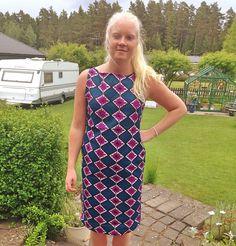 Klänning med tyg från Kenya