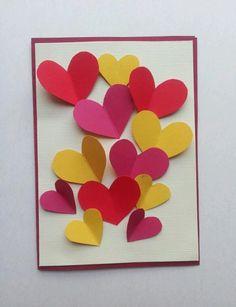 Yay, birthday card I made for my mum. Paper hearts :)