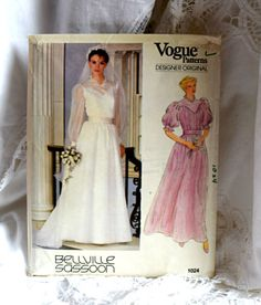 Vogue Size 8 Bellville Sassoon 1024 Wedding Dress by FranciesFare