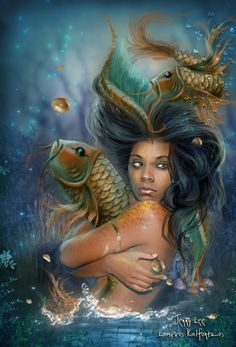 Black Women Art!, themermaidstudio: LOVE vertepetite: Goddess...