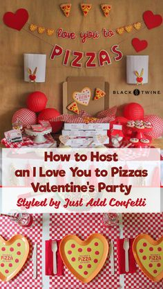 Blueprint Collage from I Love You to Pizzas Valentine's Party Styled by Just Add Confetti Valentines Day Food, Valentines Day Pizza, Valentines Day Activities, Valentines Gifts For Boyfriend, Valentines For Kids, Valentine Party, Valentine Nails, Valentine Ideas, Vintage Valentines