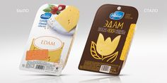 Valio Cheese Collection Redesigned on Packaging of the World - Creative Package Design Gallery Cheese Packaging, Brand Packaging, Types Of Cheese, Plate Tectonics, Creativity And Innovation, Packaging Design Inspiration, Design Process, Queso, Food And Drink