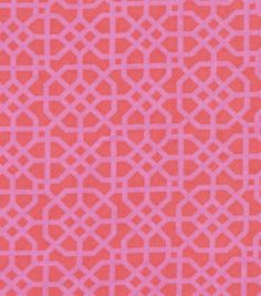 Snuggle Flannel Fabric-Pink Geo