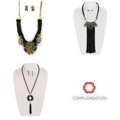 Collares largos o cortos tú decides   Contactanos : 809 853 3250 / 809 405 5555 Delivery  Envoltura disponible   #newarrivals #available #glam #chic #black #gold #necklace #autumn #accesories #byou #becomplete