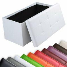 pouf storage pliable synthétique et carton  chambre ou salon