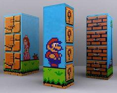 These are GENIUS!! Super-Mario-Filing-Cabinet