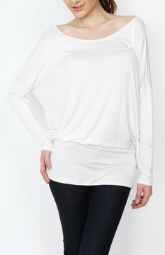 Ivory Knit Long Sleeve Top - #WholesaleTops, #Casual #DayTops, #Solid, #Dressy #Chic #Trendy, #Spring #SpringWear, #CloseoutTops