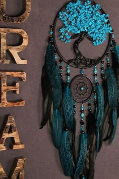 Dream Catcher Tree of life blue Dreamcatcher turquoise Dream сatchers blue turquoise dreamcatchers decor wall handmade gift Valentines Day ************************************************************************* Medicinal properties - Salvabrani Dream Catcher Decor, Making Dream Catchers, Lace Dream Catchers, Dream Catcher Mobile, Dream Catcher Tutorial, Diy And Crafts, Arts And Crafts, Beautiful Dream Catchers, Tree Of Life