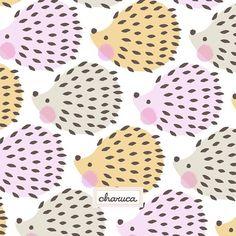 Mis erizos y yo os damos las buenas noches... Hedgehog Illustration, Cute Illustration, Digital Illustration, Bullet Journal Themes, Cute Backgrounds, Hedgehogs, Nursery Prints, Repeating Patterns, Textile Patterns