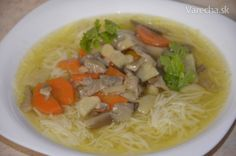Hlivovová polievka Thai Red Curry, Food And Drink, Veggies, Ethnic Recipes, Vegetable Recipes, Vegetables