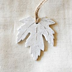 """Make"" your home beautiful at Beekman 1802  Plaster Cast Leaf Tutorial 
