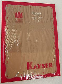 One pair of Bend-Easy stockings still sealed in their original packet Made in England by Kayser Bondor around 1953 The pack is marked with the Royal