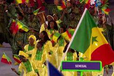 ( 05 Photos ) Le passage de la délégation sénégalaise à la cérémonie d'ouverture des Jeux Olympiques de Rio