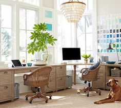 Coastal Office From Pottery Barn Who Could Do Work In Such A Beautiful E